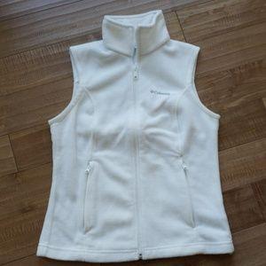 Columbia White Fleece Vest Size XS